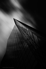 Looking Up (Heather Smith Photography) Tags: a7r2 city architecture bw black white reflection le blackwhite bigstopper leebigstopper longexposure building cityscape sony