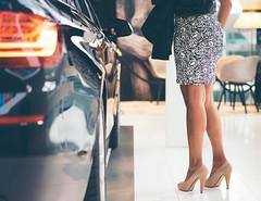 Hello Mrs. Robinson (Stadt_Kind) Tags: people streetphotography mrs robinson legs highheels pupms car olympusem10markii leica nocticron bmw bmwwelt bmwworld bokeh dof depthoffield munich mnchen bavaria bayern itsneartogermany europe mostinteresting popular flickr stadtkind