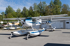 Private Cessna 180J Skywagon N180CE (jbp274) Tags: greenville greenvilleseaplaneflyin 52b flyin mooseheadlake airplanes seaplane floatplane cessna c180 skywagon
