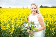Beauty in a Yellow Sea (Peely 22) Tags: flowers wedding bride eyes nikon blonde bouquet d610
