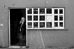 Talk 8/52 (mehmetacik) Tags: world street old portrait people bw tower window nature project turkey photography landscapes photo blackwhite nikon time uncle year türkiye istanbul sb hayat sokak d300 fotoğraf siyahbeyaz 52week
