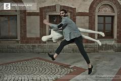 On the run with the dummy (Francesco Carta) Tags: man nikon run getty dummy d300 relation francescocarta