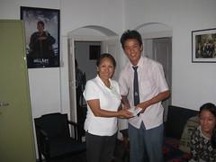 Nima with GHF Chairman Phurba