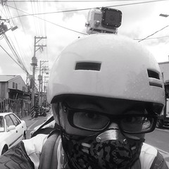 #bike #bike2work #biketowork #commuter #gopro #respro #taipei #taiwan (funkyruru) Tags: square squareformat iphoneography instagramapp uploaded:by=instagram