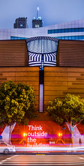 think outside the building (pbo31) Tags: sanfrancisco california panorama motion color art museum architecture night dark spring nikon traffic contemporary sfmoma may large panoramic structure soma stitched roadway d800 2015 lightstream boury pbo31