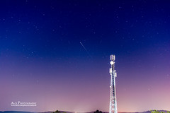Irridum-64 flare vs GSM Tower (Ali's Photograpy) Tags: pakistan sky tower night stars 50mm nikon leo space satellite horizon astro communication ali astrophotography nikkor gsm jhelum lowearthorbit 50mmf18g aliasghar alisphotography irridium64