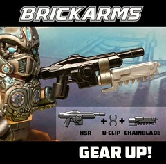 Gear up! (BrickArms) Tags: lancer gearsofwar brickarms legogun