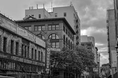 Cityscape Portland (Ken Cruz --- Fernweh) Tags: city windows blackandwhite architecture oregon buildings portland outdoors cityscape cloudy streetphotography pacificnorthwest hdr lightroom