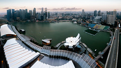 Marina bay (Patrick Foto ;)) Tags: city bridge sunset sea sky urban panorama reflection building tourism water skyline architecture modern skyscraper marina river landscape outdoors hotel evening bay town singapore asia downtown cityscape exterior waterfront view riverside dusk district famous central landmark center scene casino structure business sands sg financial