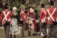 Napoleonic re-enactment (Myrialejean) Tags: red white history foot uniform gun weapon soldiers reenactment drill bridlington regiment napoleonic sewerby 33rdregiment