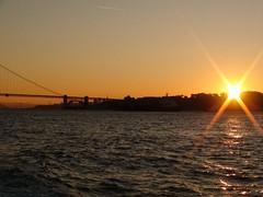 Sun Rise over SF (Xynalia) Tags: sanfrancisco ca bridge marina sunrise