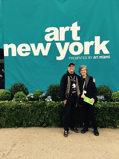 George Neary and Liana Perez at the entrance of Art New York