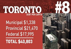Toronto debt per capita (Mel_DJ) Tags: debt toronto canada politics finance trudeau trudope