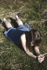 IMG_9500 (aishejonelle) Tags: blue trees portrait sky people green nature girl grass dress outdoor free preraphaelite