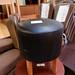 Low black stool circular