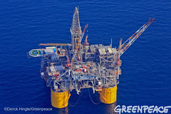 Brutus Oil Rig In Gulf (Greenpeace USA 2016) Tags: ocean usa gulfofmexico louisiana ship gulf shell greenpeace aerial oil drilling skimming fossilfuel breakfree cleanenergy portfourchon