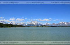 An Audience of Tetons (ficktionphotography) Tags: summer nature water skyscape landscape grandtetons waterscape naturephotography moutnains