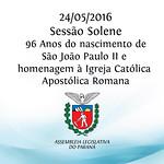 Sess�o Solene Comemorativa 24/05/2016