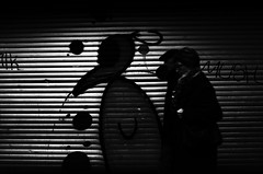 (formwandlah) Tags: street city light urban bw white abstract black art strange silhouette night contrast dark photography graffiti blackwhite high noir darkness pentax nacht outdoor candid streetphotography silhouettes pedestrian mysterious sw gr monochrom sureal ricoh kaiserslautern abstrakt thorsten prinz melancholic bizarr skurril einfarbig silhouetten mysteris melancholisch formwandlah
