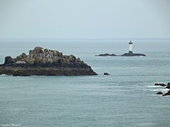 Lighthouse on the rock (Noemie.C Photo) Tags: sea sky mer lighthouse seascape water rock landscape marine eau marin horizon ciel outlook paysage phare rocher manche brume