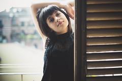 Giulia (Marcello Iaconetti Photography) Tags: italy window colors girl beauty face torino eyes nikon arms her finestra occhi sguardo nikkor turin giulia bellezza lightroom 5014 d600 italymodel