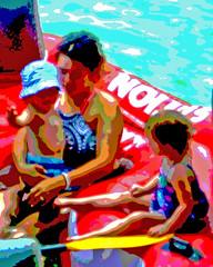 Boating with Carter Malina and Alyssa (wildrosetn39) Tags: summer lake water sunshine kids mom nice boating raft nicefeelings