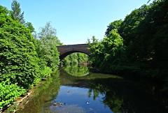 Mags (Bricheno) Tags: bridge reflections river scotland glasgow escocia kelvin westend szkocja kelvingrove schottland kelvingrovepark scozia riverkelvin cosse queenmargaretbridge  esccia   bricheno scoia