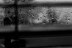 Rain on the window (Matthew@Photography) Tags: bw window monochrome rain blinds