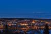 Östersund by night (fotografanders) Tags: city blue water lights hour jämtland blå östersund timmen storsjön badhusparken