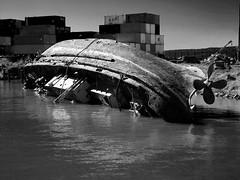 Forgotten in the harbor (christianhaward) Tags: sea boats puerto botes mar blackwhite barco barcos end lonely soledad fin olvido blanconegro talcahuano bajoelmar perdidoenlaorilla