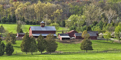 Farm (William_Doyle) Tags: trees red green nature grass photoshop spring farm nj april hopewell 2015 topazadjust topazclarity
