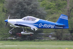 G-RVPW - 2004 build Vans RV-6A, arriving at Popham during the 2015 Microlight Trade Fair (egcc) Tags: vans popham waldron rv6 2015 deeley lycoming rv6a o320 eghp microlighttradefair grvpw pfa181a13481