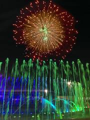 Agua Fuego Luz (Momoztla) Tags: verde water mexico noche fuente feria bomba pirotecnia naranja 2015 danzante ixtapaluca estadodemexico momoztla