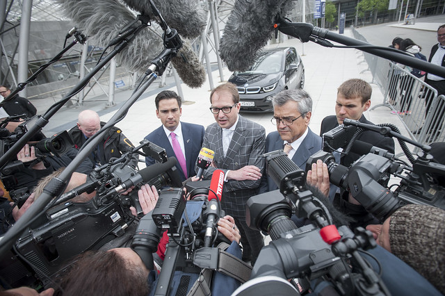 Ministers Bridges and Dobrindt face the media