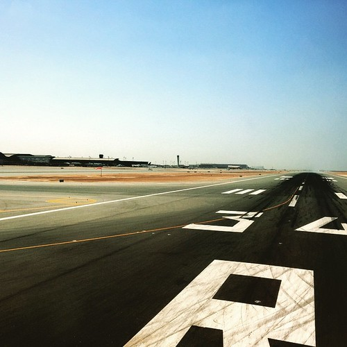Runway from the very first seat of a 777 #Doha #HamadAirport