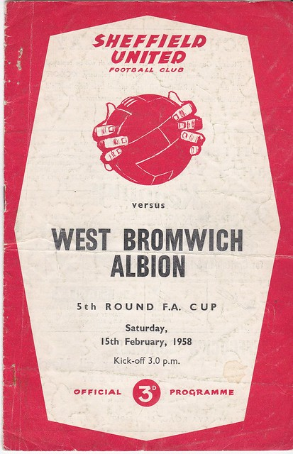 Sheffield United V West Bromwich Albion 15/2/58 (FA Cup 5th Round)