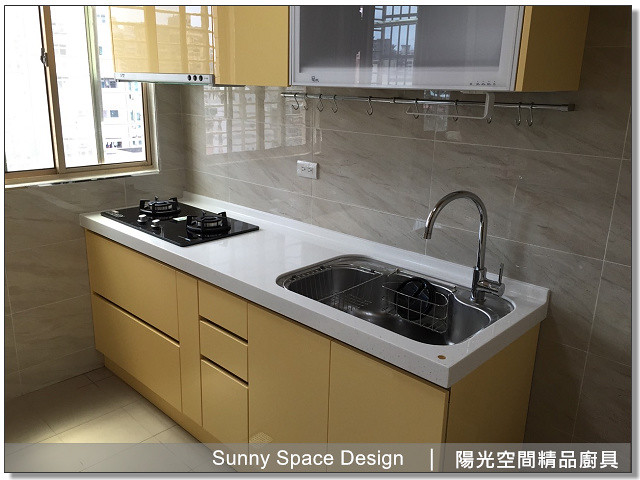 廚具│廚具大王│陽光廚具-板橋信義路鄧先生作品265-一字型廚具-陽光空間精品廚具