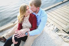 Ashley & Cody // Engaged (Nikki Kate Photography) Tags: trees light lake love nature water happy dance engagement dock couples ring explore engaged portriat inexplore nikkikatephotography