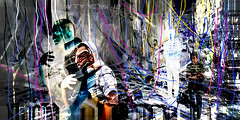 the pain of  the civilians in Aleppo show by: artist Malda Ajlani (malda ajlani) Tags: show art digital pain war syria aleppo artworks  civilians   malda       ajlani