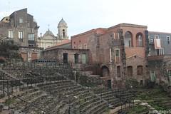 Anfiteatro (juanulagu) Tags: street city trip travel summer sky urban italy sun architecture italian italia cityscape ct wanderlust sicily catania sicilia