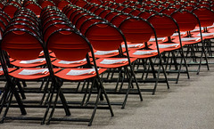 Whispering To The Graduates (Catskills Photography) Tags: red abstract whisper chairs repetition collegegraduation odc canons3is