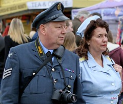 Haworth 1940's Weekend 2016 -  KV8A9018 (grab a shot) Tags: uk england people woman man canon vintage eos war uniform outdoor military yorkshire wwii 1940s ww2 nurse airforce reenactment raf westyorkshire civilian homefront worldwar2 oldfashioned haworth livinghistory 2016 warweekend brontecountry haworth1940sweekend 7dmarkii