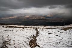 Approaching storm (jasonmgabriel) Tags: snow storm mountains clouds landscape scotland scenery path nevis