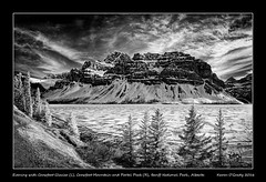 Evening with Crowfoot Glacier (L), Crowfoot Mountain and Portal Peak (R), Banff National Park, Alberta (kgogrady) Tags: trees blackandwhite bw panorama snow canada mountains ice landscape evening blackwhite spring nikon pano noone ab nopeople alberta infrared nikkor banffnationalpark parkscanada bowlake canadianrockies 2016 westerncanada canadianmountains highway93 crowfootglacier d80 crowfootmountain canadianlakes canadiannationalparks canadianlandscapes portalpeak albertalakes albertalandscapes nikonafs18200mmgvr canadianrockieslanscape