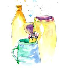 146/366~ #art #strathmoreart #pots #illustration #ink #watercolors #sketch #fountainpen (j.smita7) Tags: art strathmoreart pots illustration ink watercolors sketch fountainpen