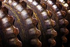 All of my Teeth 3417 (nikonmike99) Tags: abstract texture rust pattern earth teeth farming kansas plow