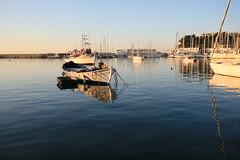 old boat and the sea (spicros78) Tags: blue sea test walking relax boat calm greece canon5d piraeus canon17404l microlimano   canon5dclassic