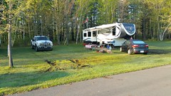 Paul and Shelley's site (JD and Beastlet) Tags: park new york travel family camping friends camp vacation ny foot state group slide together gathering vehicle trailer rv 27 camper 2012 coles recreational rockwood mfcc crrek 2701ss