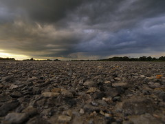 The Storm Is Brewing (My_adventure) Tags: road sunset sky sun storm nature skyline clouds brewing skyscape landscape focus natural pentax path stones hampshire mystical newforest pathway rubble compact eery unedited mirrorless pentax03 pentaxq7