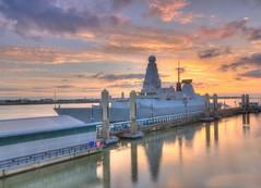 HMS Duncan in Liverpool (Jeffpmcdonald) Tags: hmsduncan royalnavy type45 airdefencedestroyer liverpool rivermersey cruiselinerterminal nikond7000 jeffpmcdonald june2016